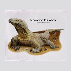 Komodo Dragon Throw Blanket