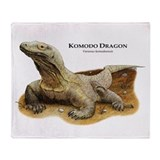 Komodo dragon Fleece Blankets