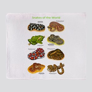 Snakes of the World Throw Blanket