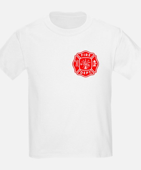 Personalized Fire Department Kids T-Shirt