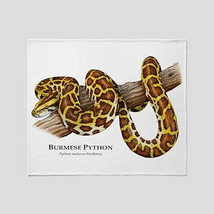 Burmese Python Throw Blanket