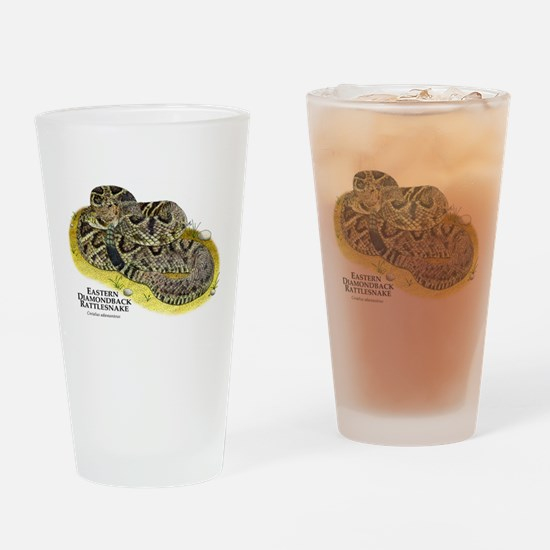 Eastern Diamondback Rattlesna Drinking Glass