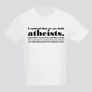 We Are Both Atheists Kids Light T-Shirt