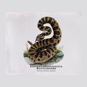 Eastern Massasauga Rattlesnak Throw Blanket
