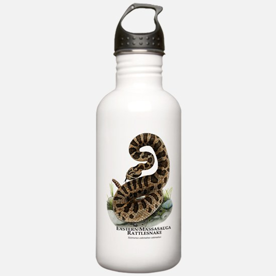 Eastern Massasauga Rattlesnak Water Bottle