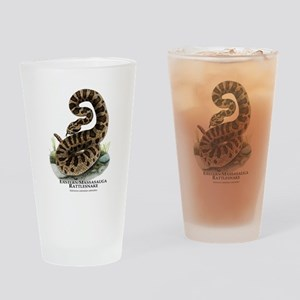 Eastern Massasauga Rattlesnak Drinking Glass