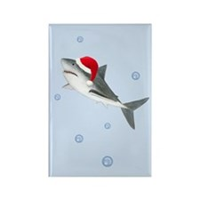 Christmas - Santa - Shark Rectangle Magnet