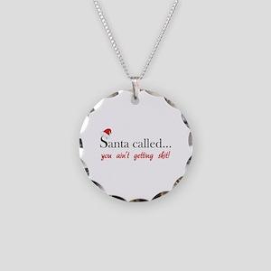 Santa called... Necklace Circle Charm