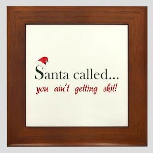 Santa called... Framed Tile