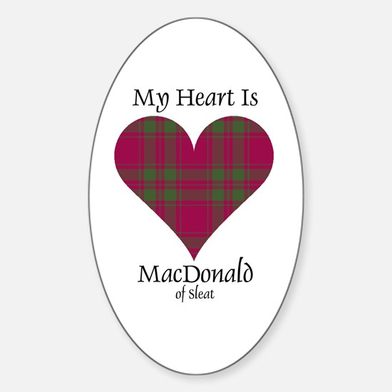 Heart - MacDonald of Sleat Sticker (Oval)