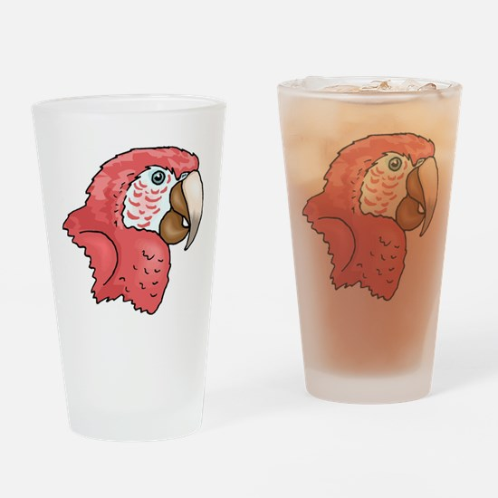 Pink Parrot Drinking Glass