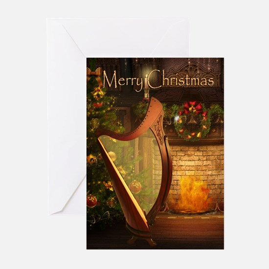Holiday Celtic Harp Cards (Pk of 20)