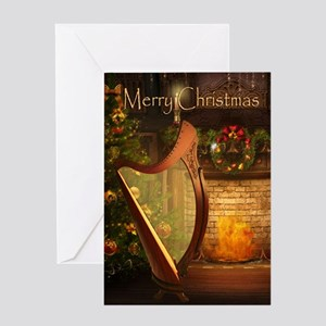 Holiday Celtic Harp Card