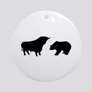 Bull bear Ornament (Round)