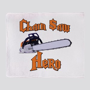 Chain Saw Hero Chainsaw Throw Blanket