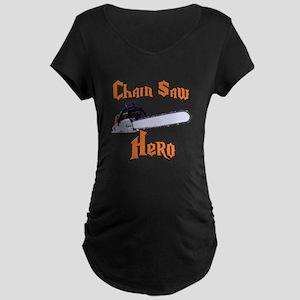 Chain Saw Hero Chainsaw Maternity Dark T-Shirt