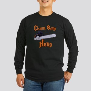 Chain Saw Hero Chainsaw Long Sleeve Dark T-Shirt