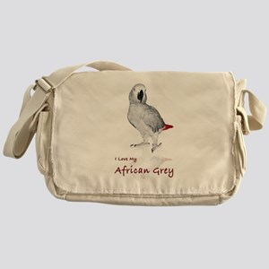i love african greys Messenger Bag
