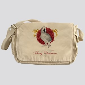 african grey parrot holiday Messenger Bag