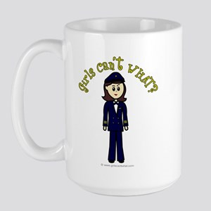 Light Airline Pilot Large Mug