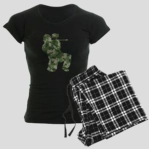 Worn, Camo Paintball Women's Dark Pajamas