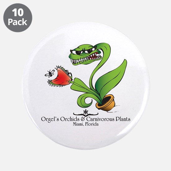"Orgel's Orchids 3.5"" Button (10 pack)"