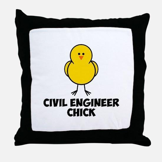 Civil Engineer Chick Throw Pillow