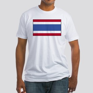 Thailand Flag Fitted T-Shirt
