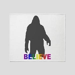 Believe in Bigfoot Throw Blanket