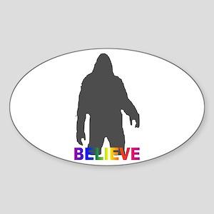 Believe in Bigfoot Sticker (Oval 10 pk)