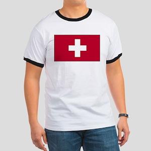 Switzerland Flag Ringer T