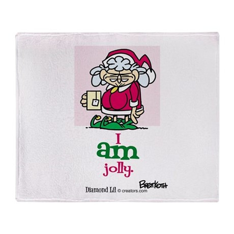 I AM Jolly Throw Blanket