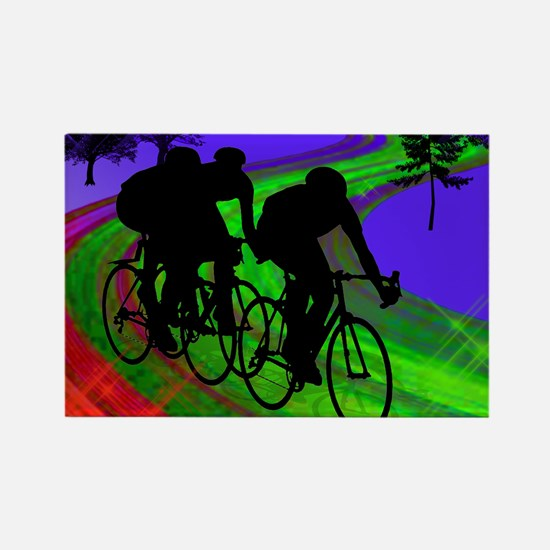 Cycling mens Rectangle Magnet