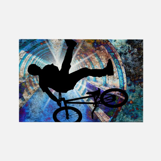 Cool Cycling mens Rectangle Magnet