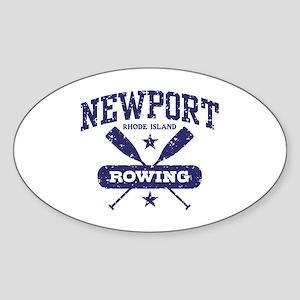 Newport Rhode Island Rowing Sticker (Oval)
