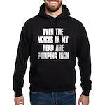 Voices in my head Hoodie (dark)