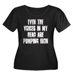 Voices in my head Women's Plus Size Scoop Neck Dar