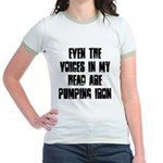 Voices in my head Jr. Ringer T-Shirt