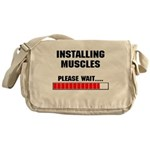 Installing Muscles Messenger Bag