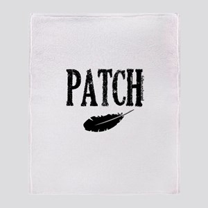 Patch and a feather Throw Blanket