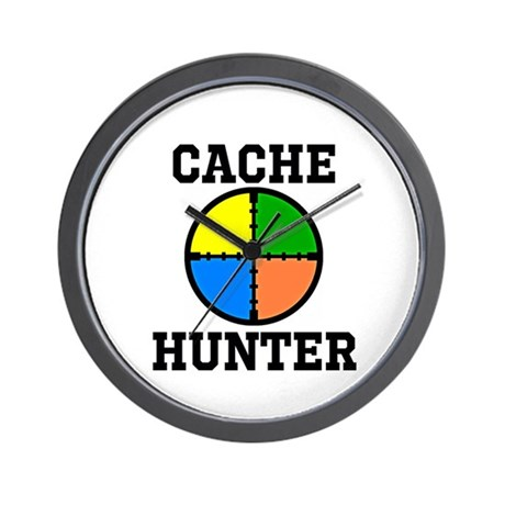 Cache Hunter Wall Clock