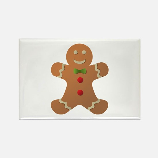 Gingerbread man Rectangle Magnet