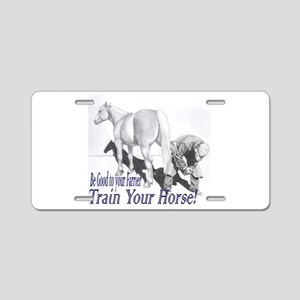 Be good to your Farrier Aluminum License Plate