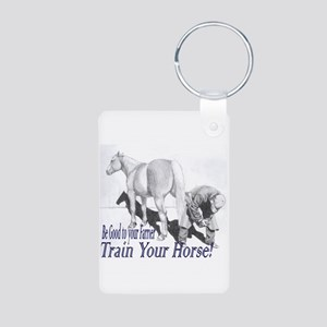 Be good to your Farrier Aluminum Photo Keychain