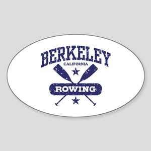 Berkeley California Rowing Sticker (Oval)