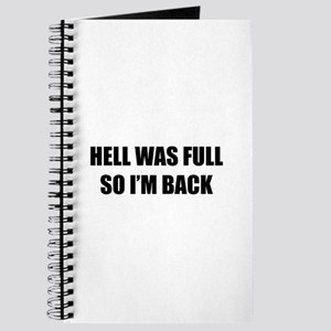 Hell was full Journal