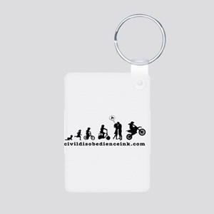 Stages of Life Aluminum Photo Keychain