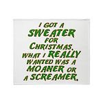 Sweater Throw Blanket