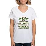 Sweater Women's V-Neck T-Shirt