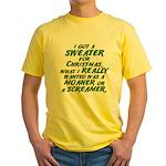 Sweater Yellow T-Shirt